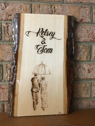 Custom Bridal Pyrography by Tazboards Pyro