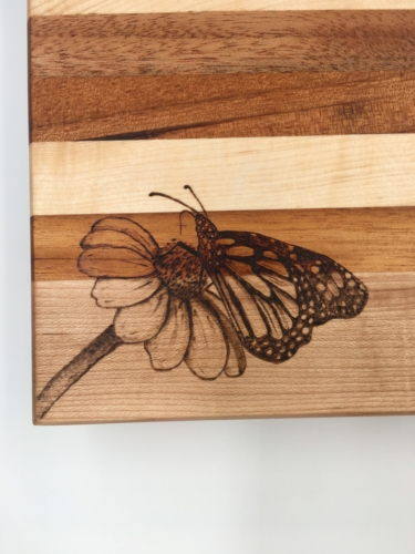 Custom Butterfly Pyrography by Tazboards Pyro