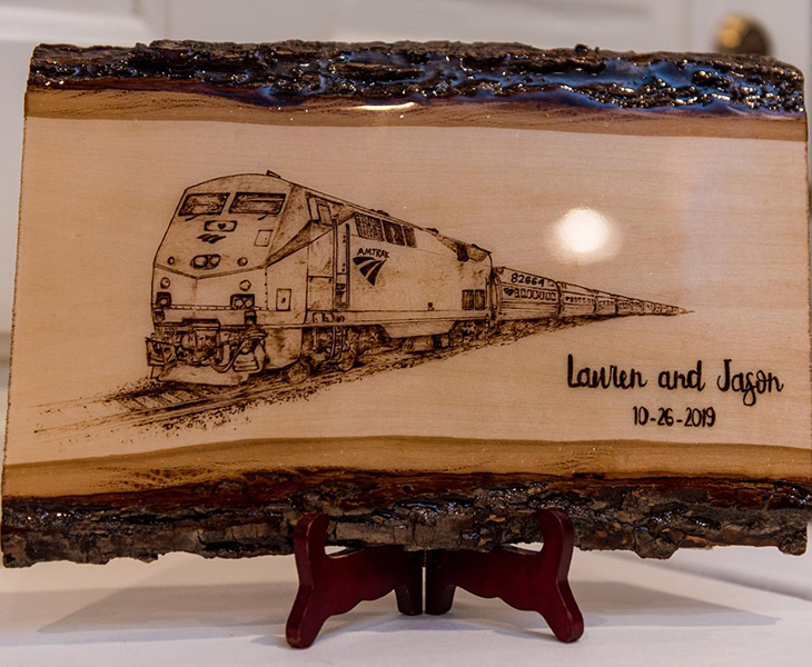 Train Pyrography by Tazboardspyro