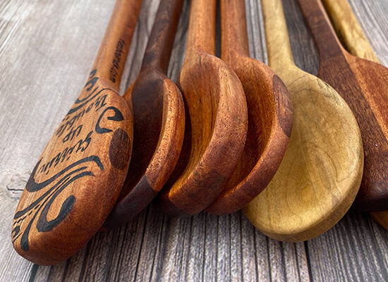 Wooden Spoons hand-carved by Tazboards