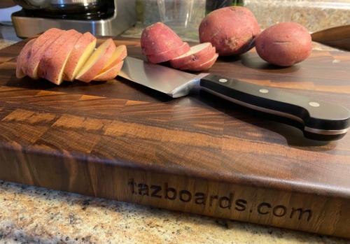 Tazboards walnut cutting board